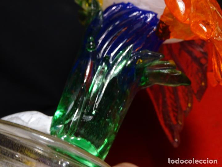 Antigüedades: Mide 22 cmts.- antigua Ave cristal de MURANO, pájaro - Foto 11 - 224952865