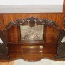 Antigüedades: PRECIOSA CONSOLA DE CAOBA. S.XIX. CON GRABADO.. Lote 224988550