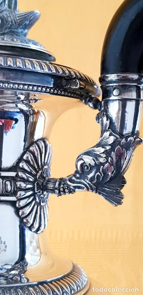 Antigüedades: PLATA 950/1000,1.600g PUNZONADA 6 VECES 1800-1820. AGUAMANIL(AIGUIÈRE)ORIGEN IMPERIAL RUSO!!!!!43 CM - Foto 6 - 224994777