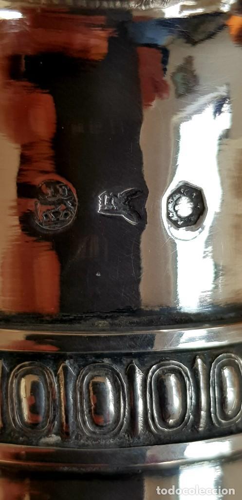 Antigüedades: PLATA 950/1000,1.600g PUNZONADA 6 VECES 1800-1820. AGUAMANIL(AIGUIÈRE)ORIGEN IMPERIAL RUSO!!!!!43 CM - Foto 9 - 224994777