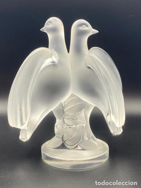 Antigüedades: cristal lalique , vintage , palomas . crystal lalique birds , ariane - Foto 4 - 225035358