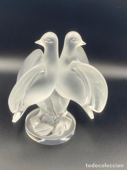 Antigüedades: cristal lalique , vintage , palomas . crystal lalique birds , ariane - Foto 7 - 225035358