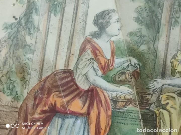 Antigüedades: ABANICO EN CAREY, PAÍS PAPEL PINTADO PRIMER TERCIO SIGLO XIX. - Foto 7 - 225060902