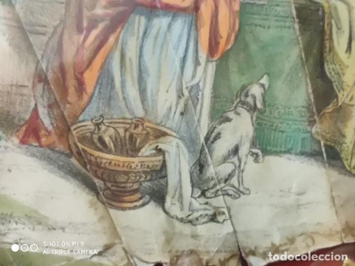 Antigüedades: ABANICO EN CAREY, PAÍS PAPEL PINTADO PRIMER TERCIO SIGLO XIX. - Foto 8 - 225060902
