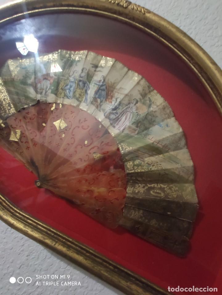 Antigüedades: ABANICO EN CAREY, PAÍS PAPEL PINTADO PRIMER TERCIO SIGLO XIX. - Foto 9 - 225060902