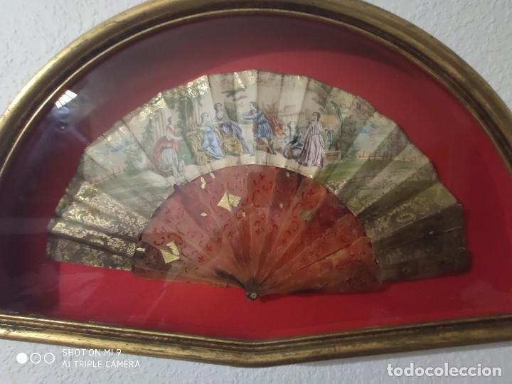 Antigüedades: ABANICO EN CAREY, PAÍS PAPEL PINTADO PRIMER TERCIO SIGLO XIX. - Foto 10 - 225060902