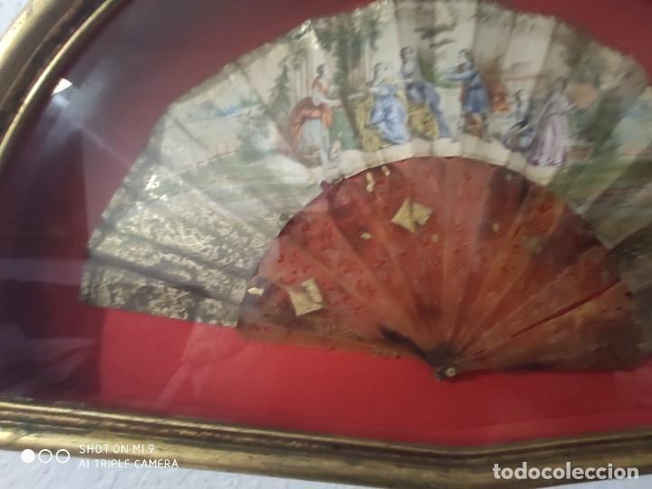 Antigüedades: ABANICO EN CAREY, PAÍS PAPEL PINTADO PRIMER TERCIO SIGLO XIX. - Foto 13 - 225060902