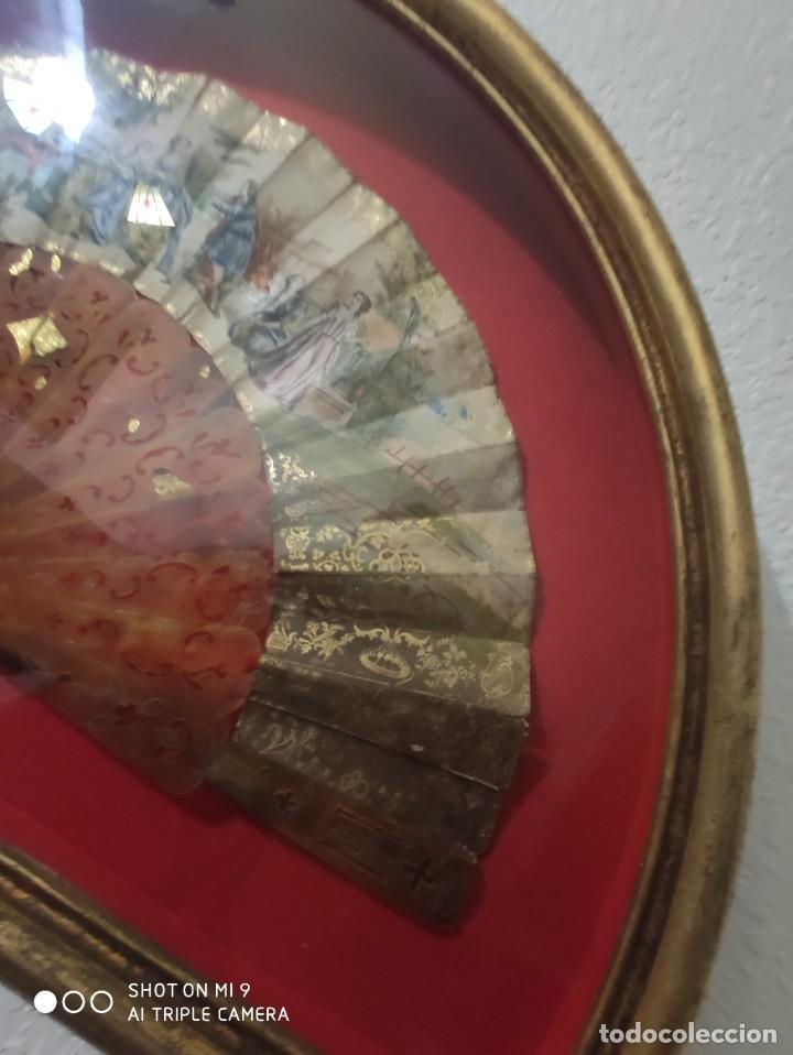 Antigüedades: ABANICO EN CAREY, PAÍS PAPEL PINTADO PRIMER TERCIO SIGLO XIX. - Foto 14 - 225060902