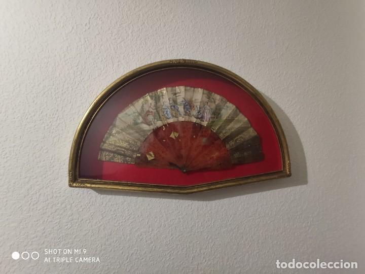 Antigüedades: ABANICO EN CAREY, PAÍS PAPEL PINTADO PRIMER TERCIO SIGLO XIX. - Foto 15 - 225060902