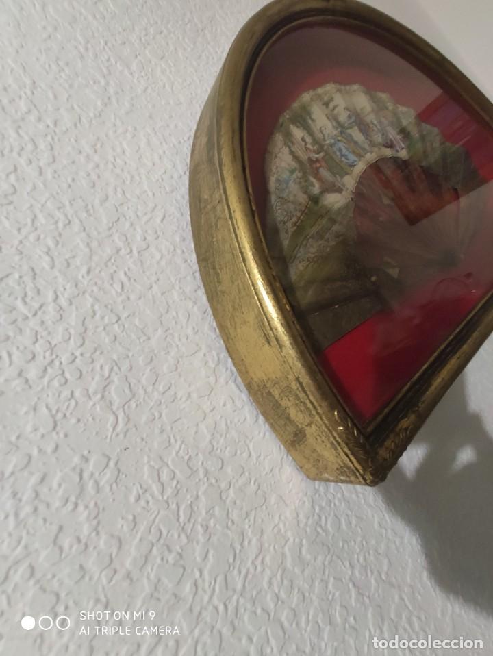 Antigüedades: ABANICO EN CAREY, PAÍS PAPEL PINTADO PRIMER TERCIO SIGLO XIX. - Foto 18 - 225060902
