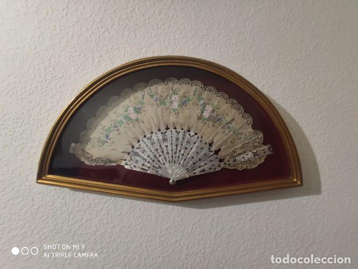 Antigüedades: ABANICO EN NÁCAR CON PAIS PINTADO, FRANCIA SIGLO XIX. - Foto 9 - 225061338