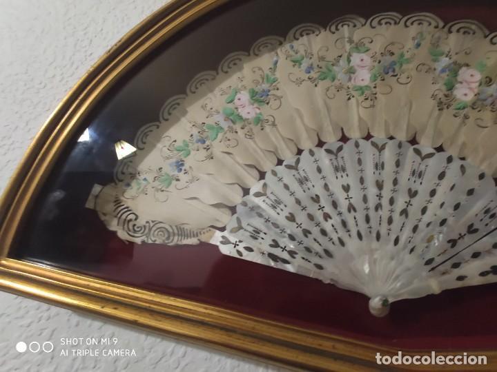 Antigüedades: ABANICO EN NÁCAR CON PAIS PINTADO, FRANCIA SIGLO XIX. - Foto 14 - 225061338