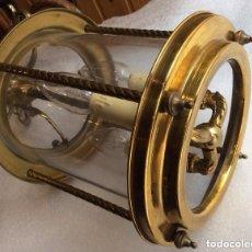 Antigüedades: ANTIGUO FAROL DE BRONCE ,IDEAL DECORACIÓN. Lote 225065960