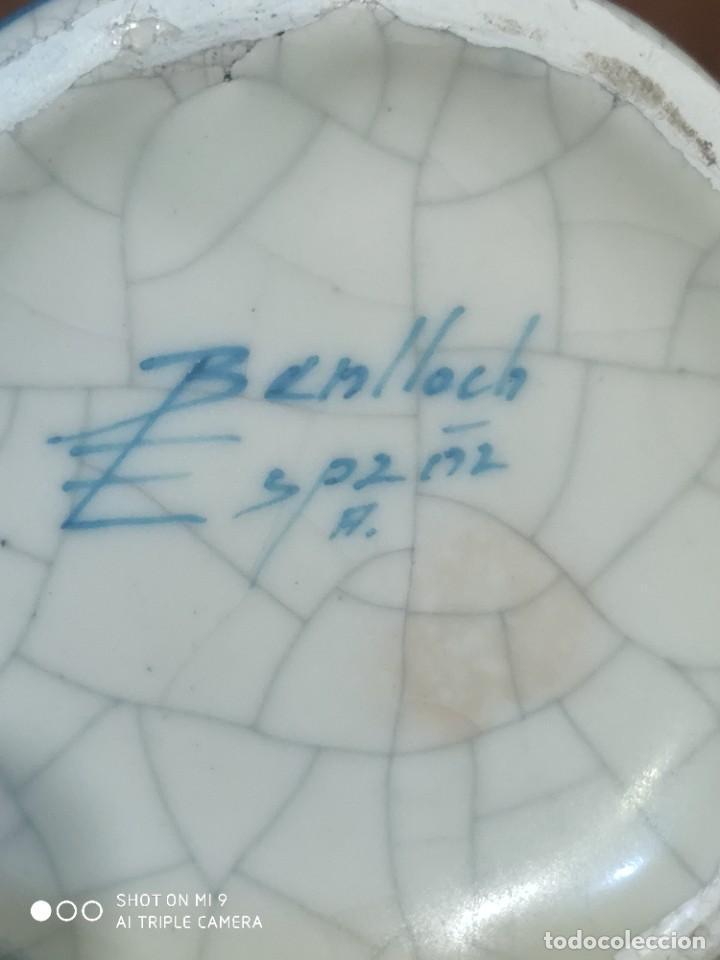 Antigüedades: PRECIOSOS JARRONES DE VINOS SANGRÍA DE MANISES, BENLLOCH ESPAÑA. - Foto 6 - 225081570