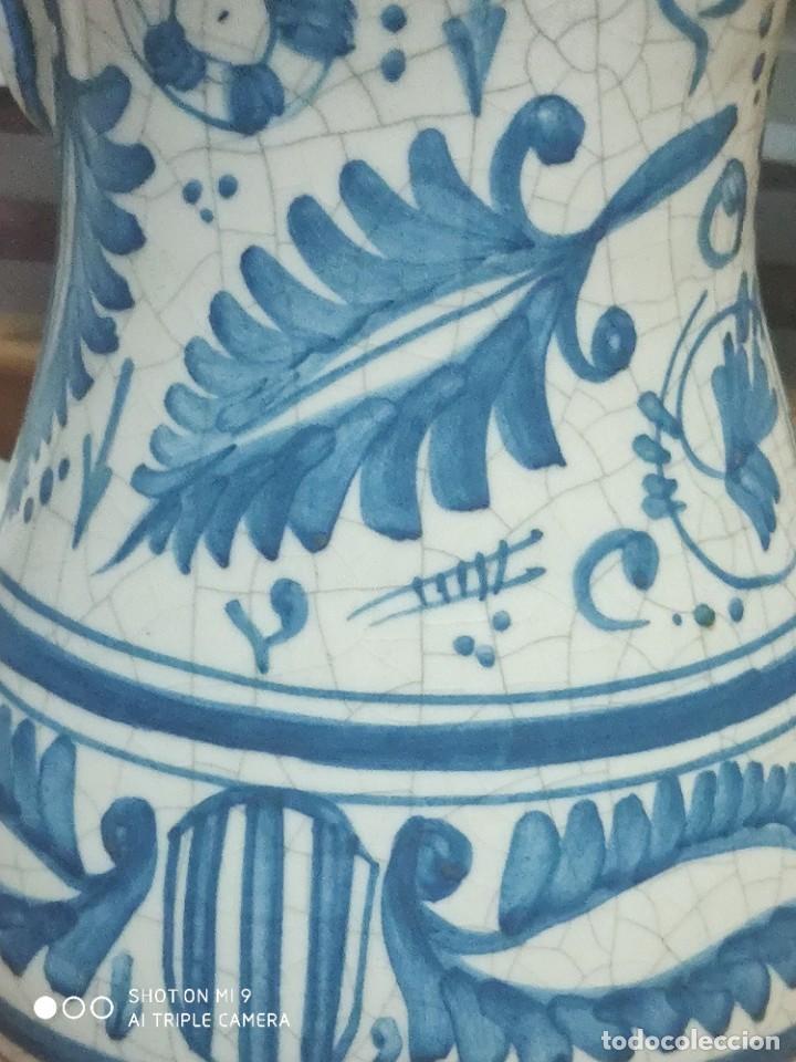 Antigüedades: PRECIOSOS JARRONES DE VINOS SANGRÍA DE MANISES, BENLLOCH ESPAÑA. - Foto 10 - 225081570