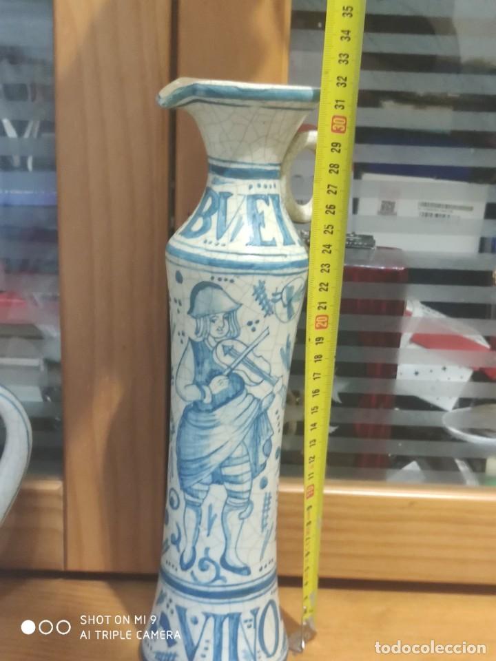 Antigüedades: PRECIOSOS JARRONES DE VINOS SANGRÍA DE MANISES, BENLLOCH ESPAÑA. - Foto 11 - 225081570