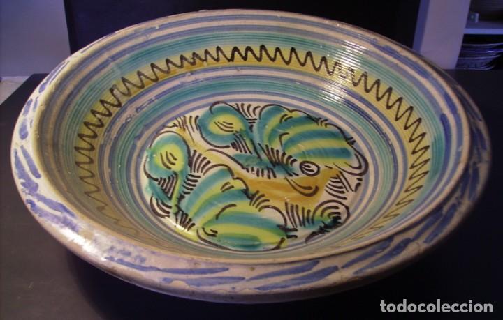 ROTUNDO LEBRILLO CERÁMICA DE TRIANA XIX (Antigüedades - Porcelanas y Cerámicas - Triana)