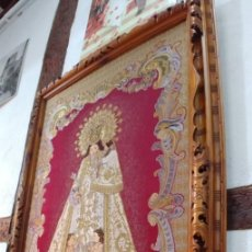 Antigüedades: TAPIZ VIRGEN DE LOS DESAMPARADOS AÑOS 1980. Lote 225113220