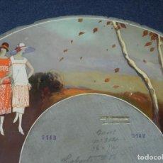 Antigüedades: (M) DISEÑO ORIGINAL PINTADO A MANOS PARA REALIZAR UN ABANICO, ÉPOCA MODERNISTA. Lote 225120511