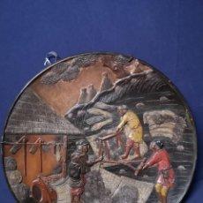 Antigüedades: GRAN PLATO JAPONES EN TERRRACOTA S.XIX. Lote 225124647