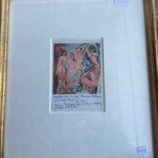 Antigüedades: POSTAL AUTÓGRAFO DE PICASSO 1971. Lote 225143490