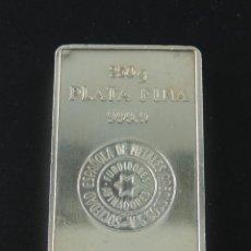 Antigüedades: LINGOTE DE PLATA 999,9 DE 250 GRAMOS - SOCIEDAD ESPAÑOLA DE METALES PRECIOSOS. Lote 225145685