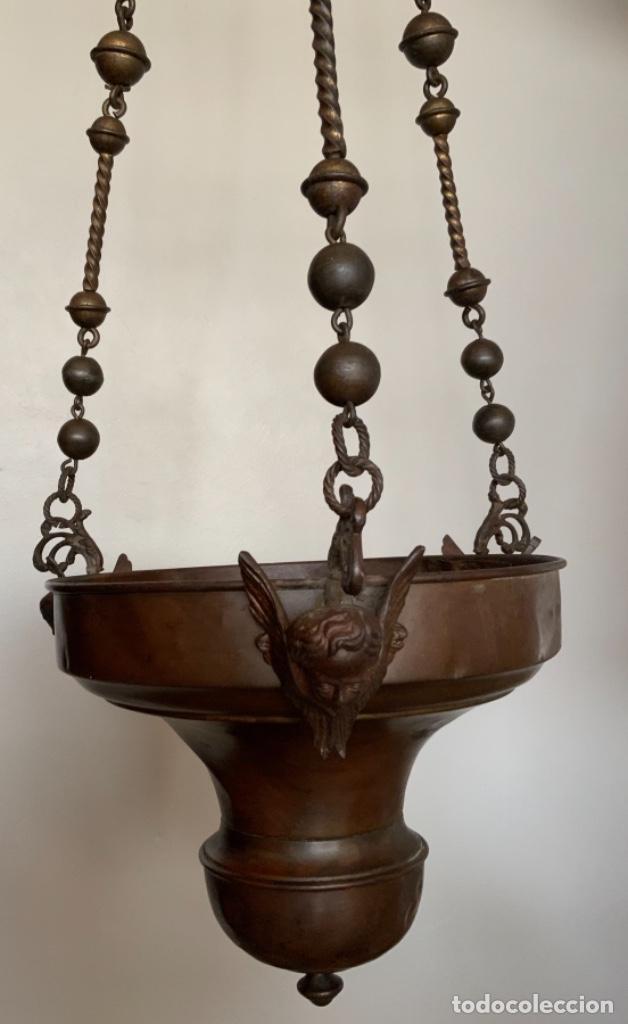 LÁMPARA VOTIVA (S.XIX) (Antigüedades - Religiosas - Ornamentos Antiguos)