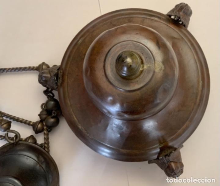 Antigüedades: LÁMPARA VOTIVA (s.XIX) - Foto 12 - 225147365