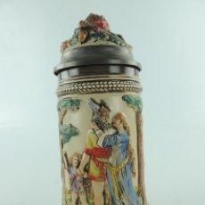 Antiquités: JARRA DE CERVEZA ALEMANA PORCELANA EXCELENTE PIEZAS DE COLECCIÓN. Lote 225152028