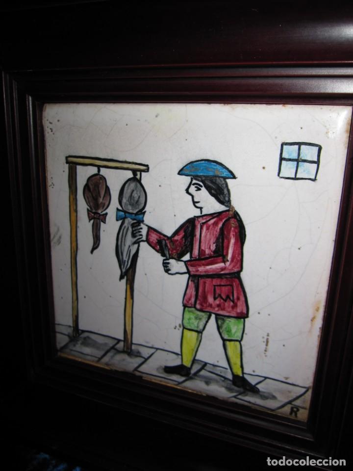 ANTIGUO AZULEJO DE OFICIOS (Antigüedades - Porcelanas y Cerámicas - Azulejos)