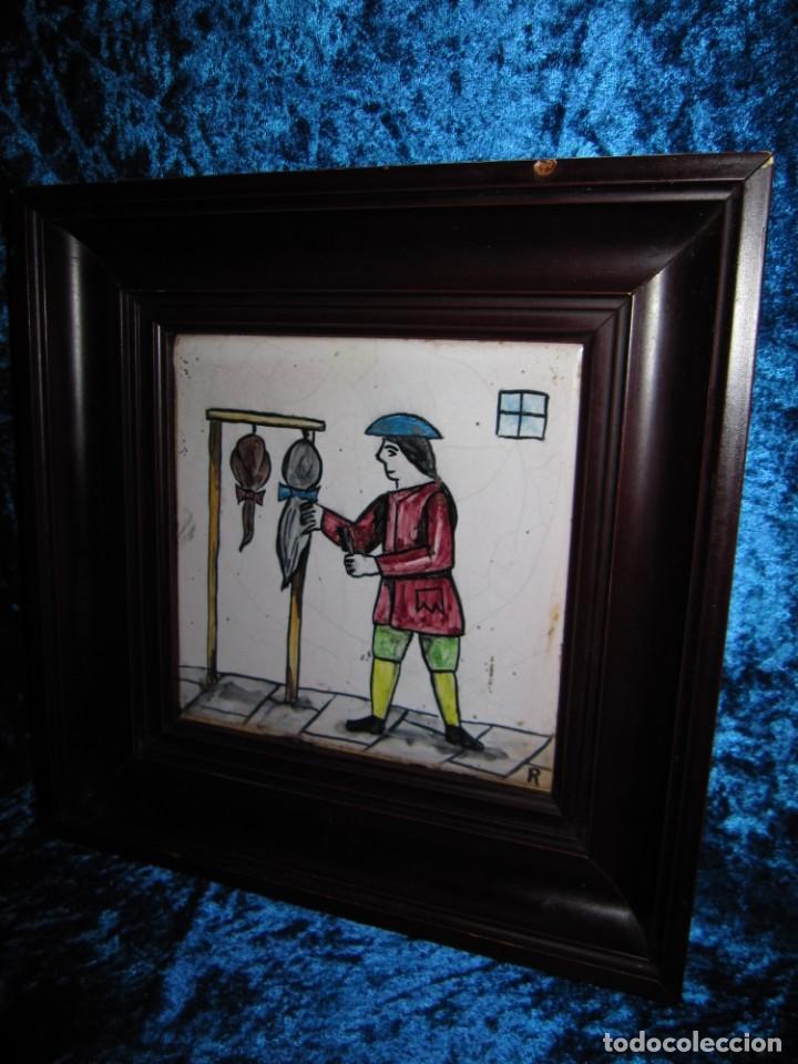 Antigüedades: Antiguo Azulejo de oficios - Foto 3 - 225174761