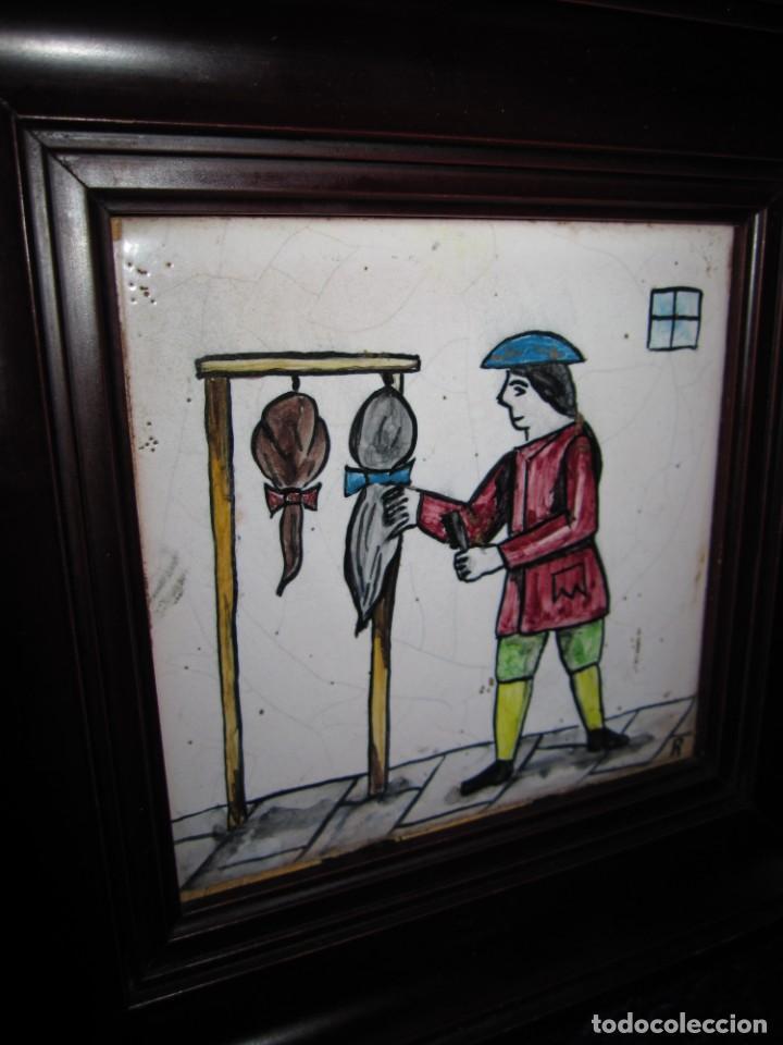 Antigüedades: Antiguo Azulejo de oficios - Foto 4 - 225174761