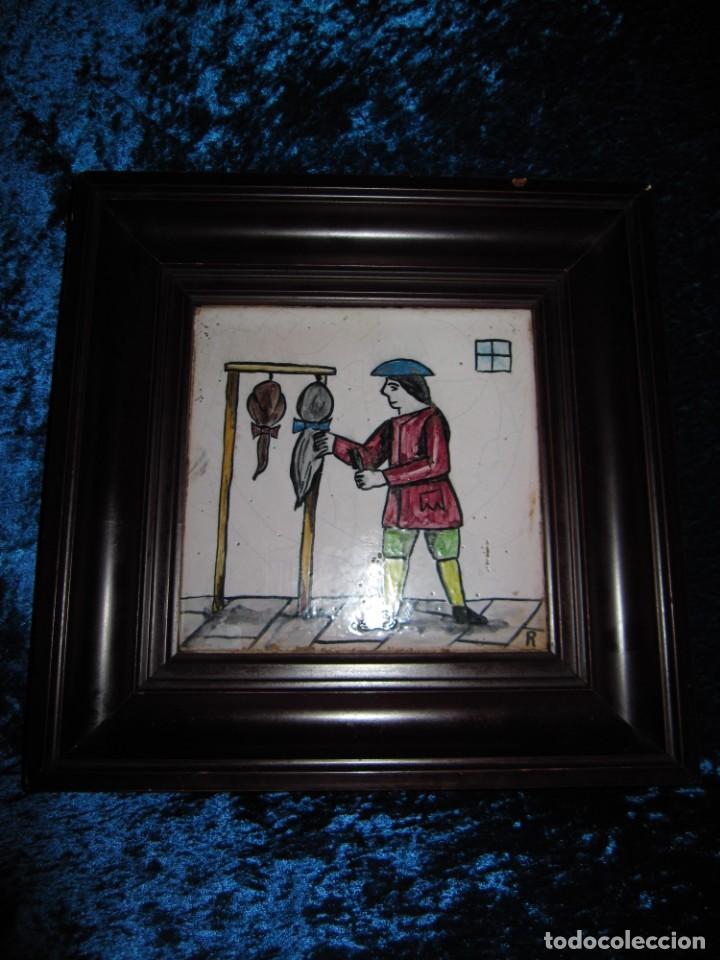 Antigüedades: Antiguo Azulejo de oficios - Foto 6 - 225174761