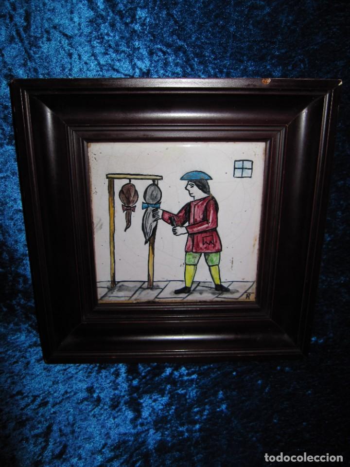 Antigüedades: Antiguo Azulejo de oficios - Foto 8 - 225174761