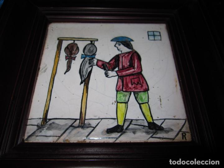 Antigüedades: Antiguo Azulejo de oficios - Foto 10 - 225174761
