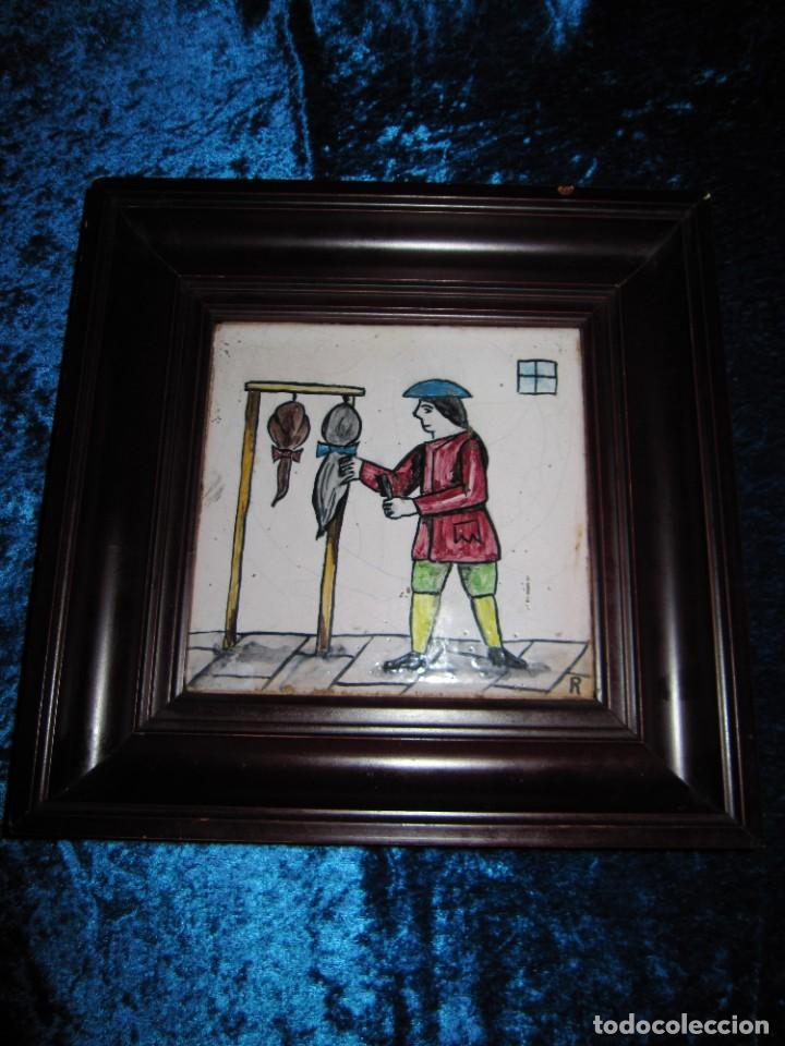 Antigüedades: Antiguo Azulejo de oficios - Foto 11 - 225174761