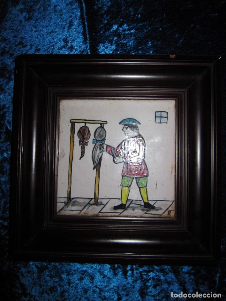 Antigüedades: Antiguo Azulejo de oficios - Foto 12 - 225174761