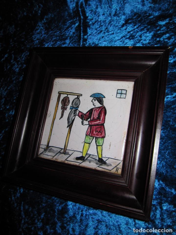 Antigüedades: Antiguo Azulejo de oficios - Foto 13 - 225174761