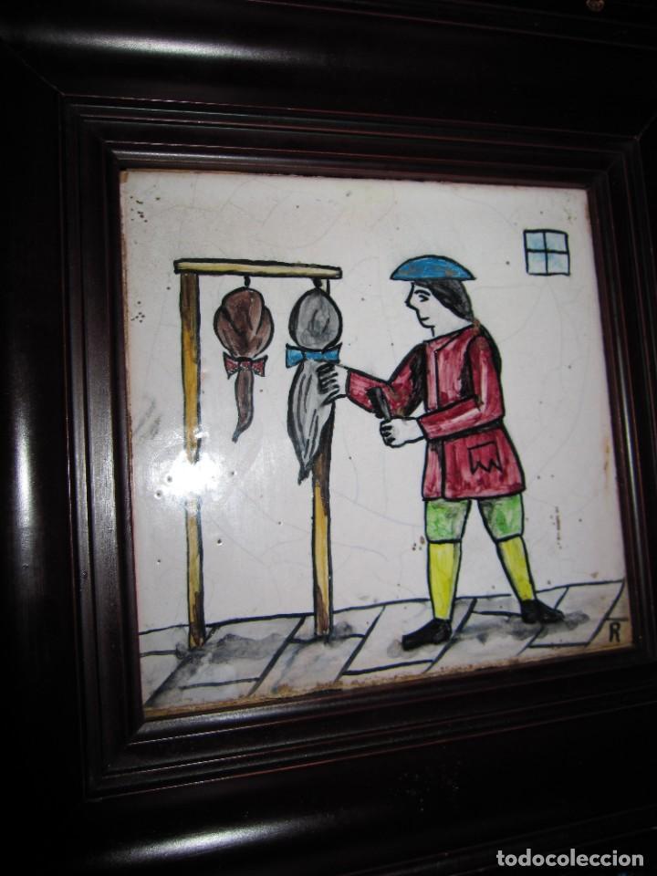 Antigüedades: Antiguo Azulejo de oficios - Foto 14 - 225174761