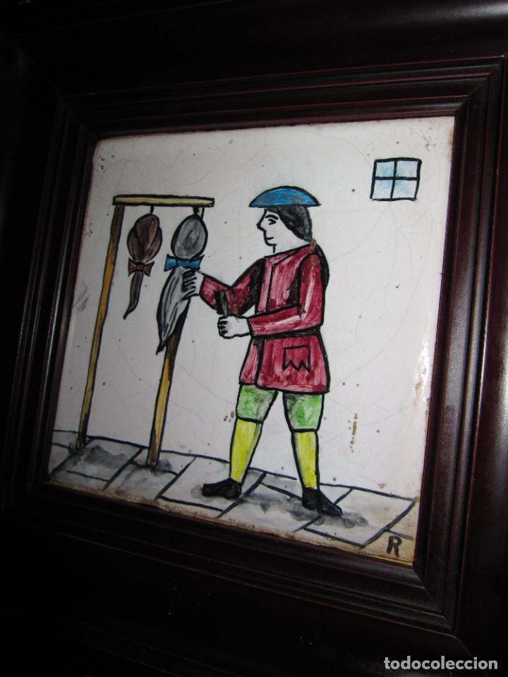 Antigüedades: Antiguo Azulejo de oficios - Foto 15 - 225174761