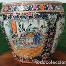 Antigüedades: ANTIGUA PECERA DE PORCELANA CHINA SERIGRAFIA EN RELIEVE SELLO DE AUTENTICIDAD EN LA BASE INFERIOR -. Lote 225176850