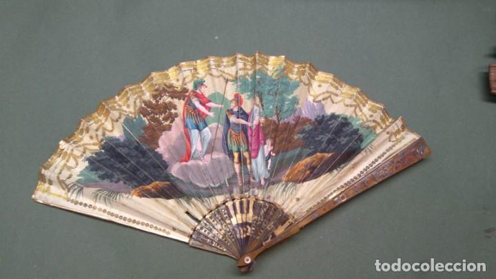 Antigüedades: Abanico finales del XVIII principios del XIX. - Foto 4 - 225208598