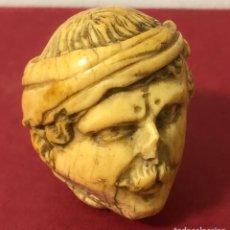 Oggetti Antichi: ANTIGUO MANGO DE BASTÓN EN MARFIL TALLADO. FINALES S.XIX. Lote 225241585