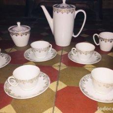 Antigüedades: JUEGO CAFÉ SANTA CLARA VIGO. Lote 225246347