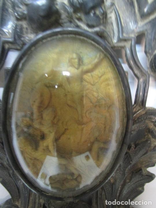 Antigüedades: Preciosa Benditera, Pila - Plata de Ley - con Angelitos - Talla en Espuma de Mar - S. XVIII - Foto 11 - 225249775