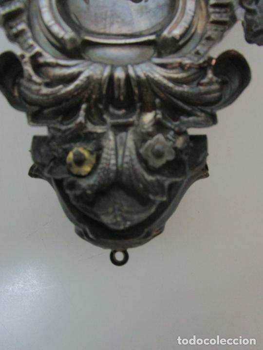 Antigüedades: Preciosa Benditera, Pila - Plata de Ley - con Angelitos - Talla en Espuma de Mar - S. XVIII - Foto 19 - 225249775