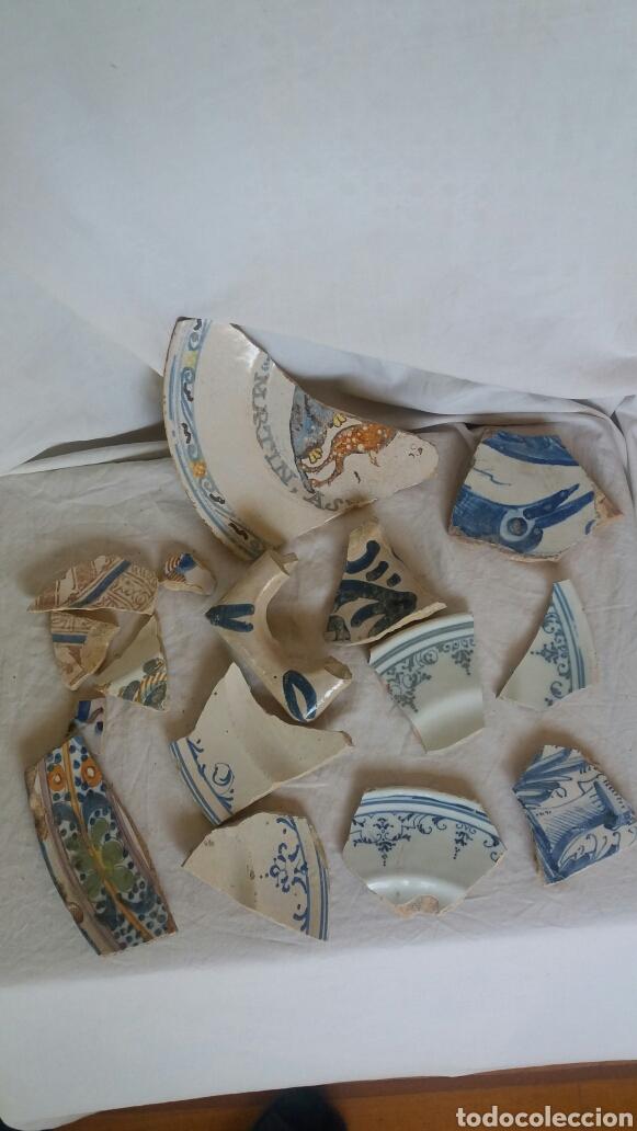 LOTE DE FRAGMENTOS DE CERÁMICA SIGLOS XVI -XVIII (Antigüedades - Porcelanas y Cerámicas - Teruel)