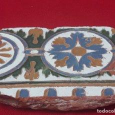 Antigüedades: AZULEJO ANTIGUO DE TOLEDO - ARISTA - RENACIMIENTO - SIGLO XVII.. Lote 225258915