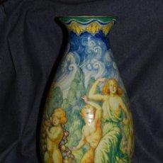Antigüedades: (M) JARRÓN MODERNISTA ORIGINAL FIRMADO POR JOSEP GUARDIOLA BONET, ESPLUGUES 1923, GRAN TAMAÑO. Lote 225260975