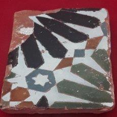 Antigüedades: 2 ) AZULEJO ANTIGUO DE TOLEDO - SIGLO XV -XVI - ARABE / MUDEJAR - ARISTA.. Lote 225262470